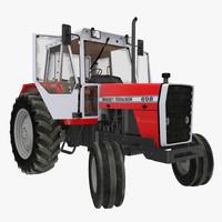 3d model vintage tractor ferguson 698