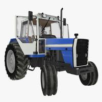 maya vintage tractor generic rigged