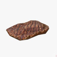 3d model steak ready