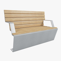 3ds max outdoor bench
