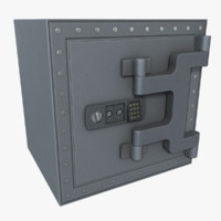 3d model safe asset polys