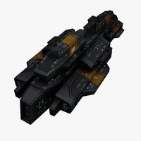 battleship 3d obj
