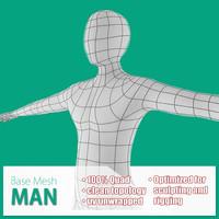maya base mesh man