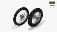 ktm oem enduro wheel 3d model