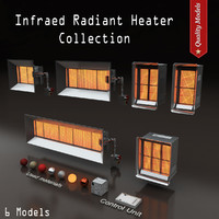 infraed ceramic heating 3d model