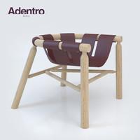 3d leather armchair ninna adentro model