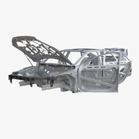 3d car frame 6 rigged model