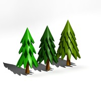 cartoon tree 3d 3ds