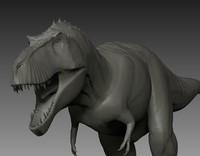 3d model t-rex ztl sculpting