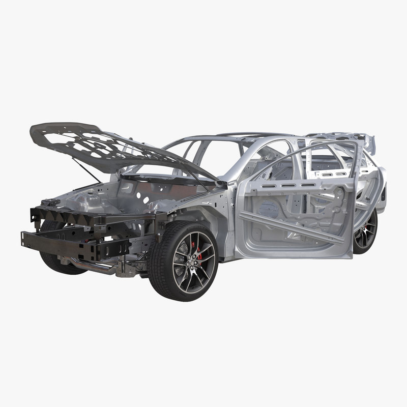 Car Frame with Chassis Rigged 3d model 000.jpg
