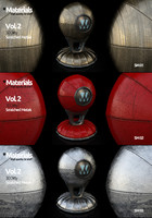 30 Dirty - Vray Materials Vol.2 - Scratched Metals.