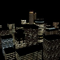 3d model night city