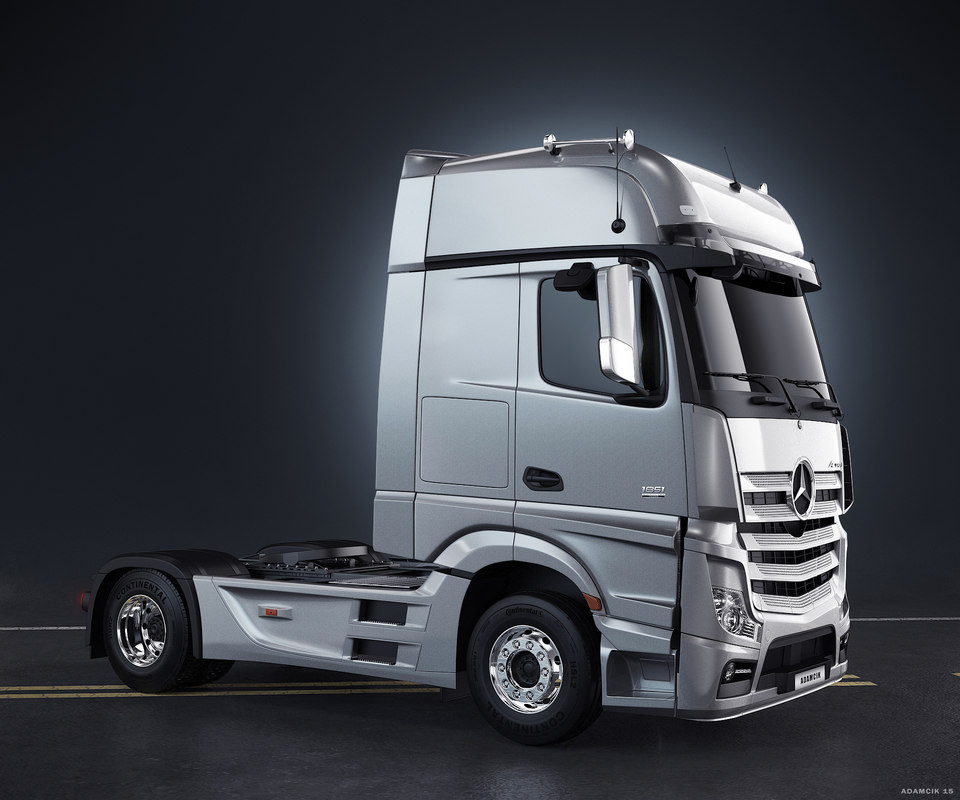 3d mercedes benz actros truck for Mercedes benz truck models