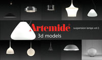 3d artemide suspension lamps volume 1 model