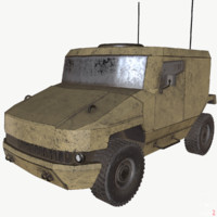 armored military vehicle 3d model
