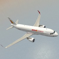 3d sharkleted a320neo iberia express model
