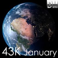 3d earth january model
