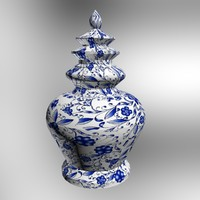 chinese vase 3d max