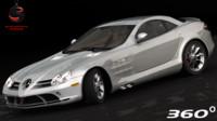 3d model mercedes-benz slr mclaren 2005