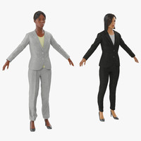 business womans 3d model