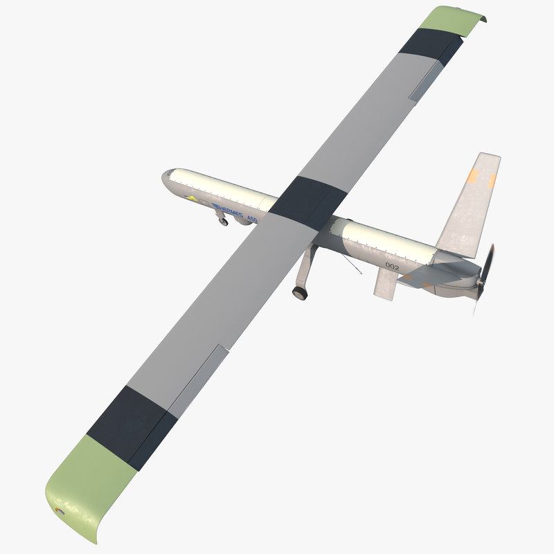 Elbit Hermes 450 Israel UAV Rigged 3d model 00.jpg