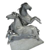 statue horse 3d model