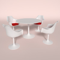 3d tulip chair table model