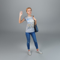 3dsmax woman casual