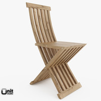 slatted chair cassina 3d model