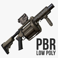 Milkor MGL-140 Low Poly