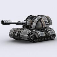 sci-fi tank 3d 3ds