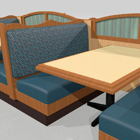Restaurant Booths and Tables: Modular Set