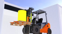 3ds max toyota forklift truck