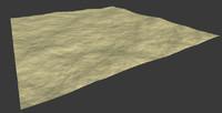 3d model desert plain