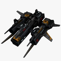 fighter space 3d model