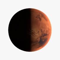 c4d 16k mars earth planet