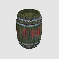 free 3ds mode wooden barrel