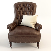 Armchair Tufted Leather