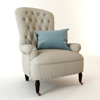 armchair cloth 3d max