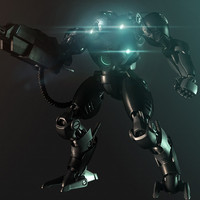 robot rigged 3d ma