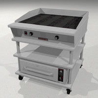 Restaurant Char Broiler with Heat Drawer