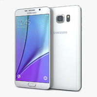 3d model samsung galaxy note5 white
