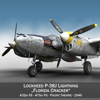 lockheed lightning - florida 3d model