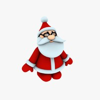 printing funny santa pose01 3d obj