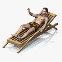 3d beach boy rigged