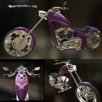 3d motorcycle pbr model