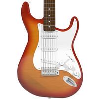 guitar fender strat 3d c4d