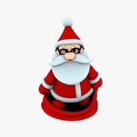 printing funny santa 3d max