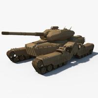 3d model of tank bend