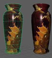 3d japanese vase model